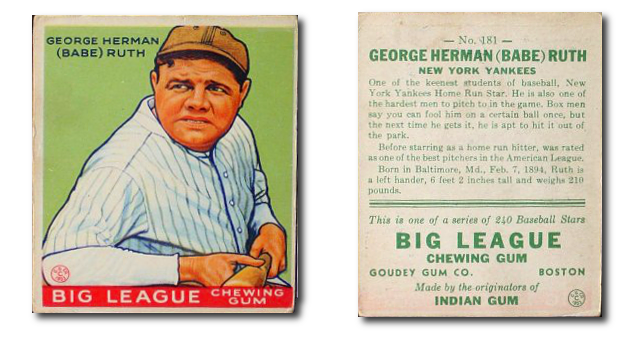 Baseball Card Set of the Week - 1933 Goudey