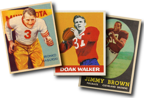 1930s, 40s, and 50s Football Cards