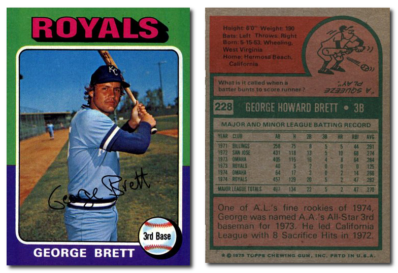 We buy and sell the most 1970s cards online. Even the 1975 George Brett Rookie Card.