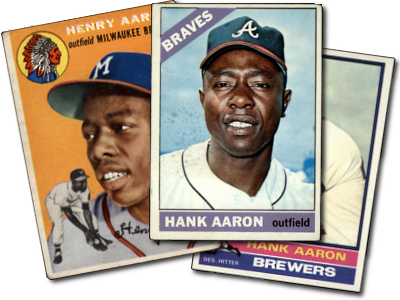 Buy Hank Aaron Baseball Cards At Deans Cards