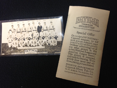 1913 T200 Fatima Teams Baseball Cards