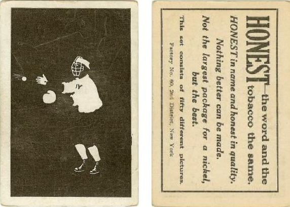 1910 T100 Silhouettes Player Card