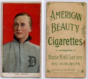 1909-11 T206 American Beauty Back Baseball Cards