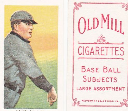 1909-11 T206 Old Mill Back Baseball Cards