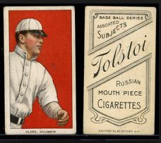 1909-11 T206 Tolstoi Back Baseball Cards