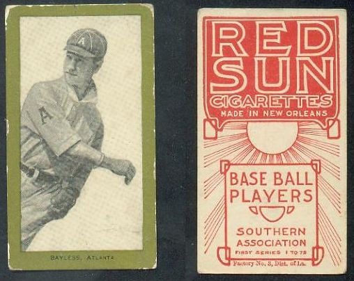 1910 T211 Red Sun Baseball Cards