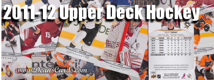 2011-12 Upper Deck Hockey Cards