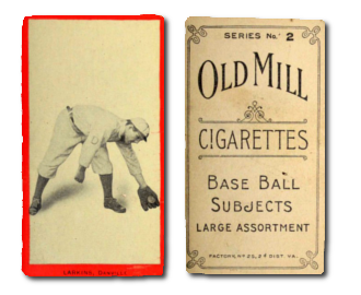 1910 T210-2 Old Mill Virginia League Series 2 Baseball Cards