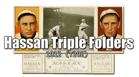 1912 T202 Hassan Triple Folders Baseball Cards