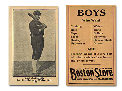 1917 Boston Store H801-8 Baseball Cards