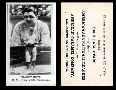 1922 E121-120 American Caramel Baseball Cards