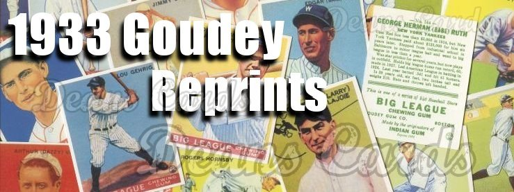 1933 Goudey Reprints