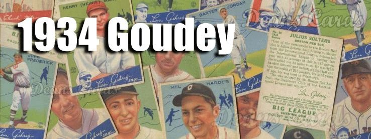 1934 Goudey (R320) Baseball Cards