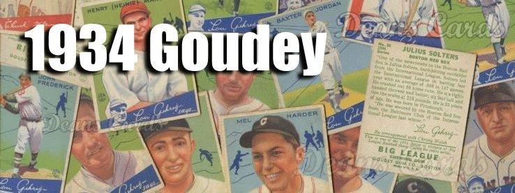 1934 Goudey (R320) Baseball Cards