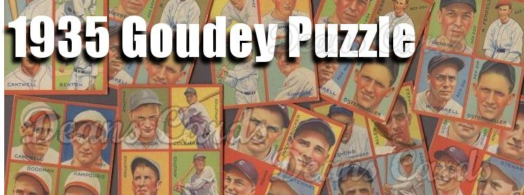 1935 Goudey Puzzle-Backs (R321) Baseball Cards