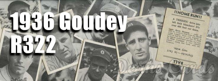 1936 Goudey (R322) Baseball Cards