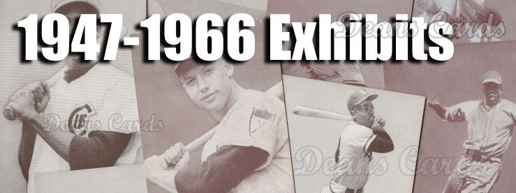 1947-66 Exhibits Baseball Cards