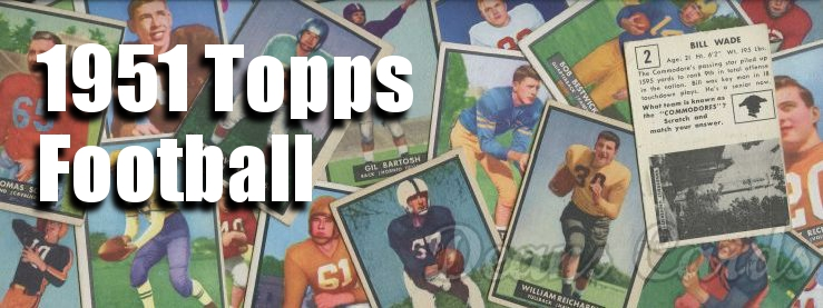 1951 Topps Football Cards