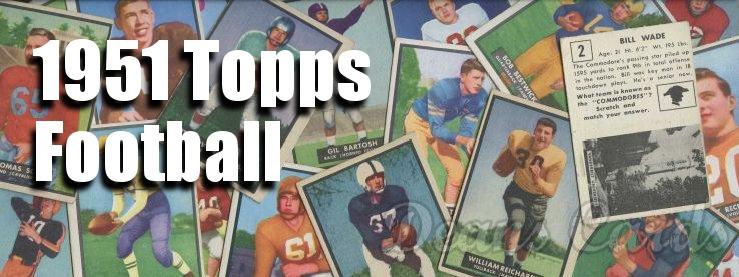 1951 Topps Magic Football Cards