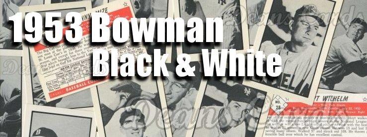 1953 Bowman B&W Reprint