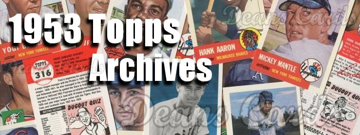 1953 Topps Archives / Reprint