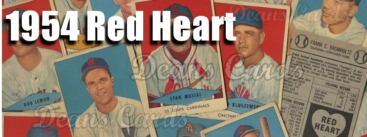 1954 Red Heart Dog Food Baseball Cards