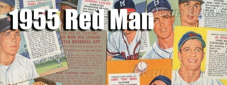 1955 Red Man Baseball Cards