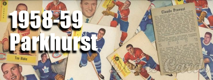 1958-59 Parkhurst Hockey Cards