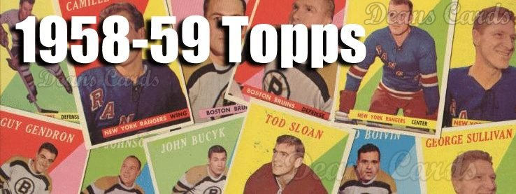1958-59 Topps Hockey Cards