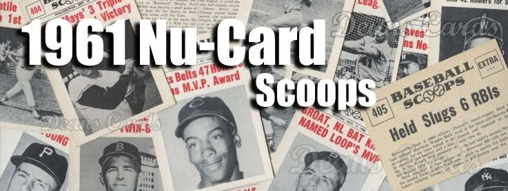 1961 Nu Card Scoops Baseball Cards