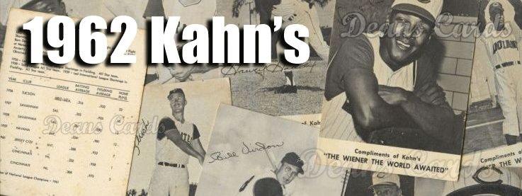 1962 Kahn's Baseball Cards