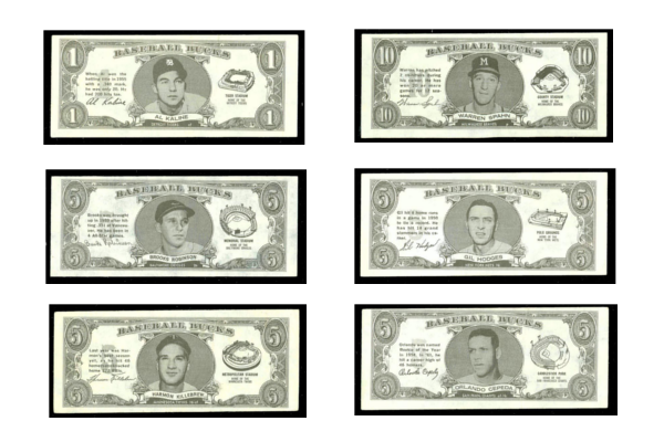 1962 Topps Bucks Baseball Cards