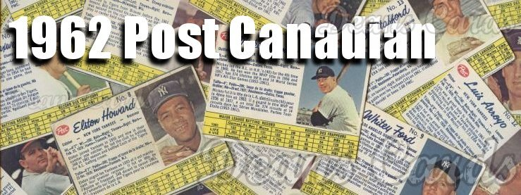 1962 Post Cereal Canadian Baseball Cards