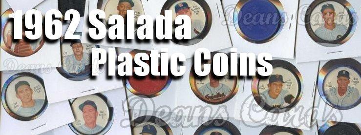 1962 Salada Plastic Coins