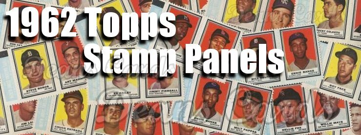 1962 Topps Baseball Stamp Panels