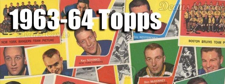 1963-64 Topps Hockey Cards