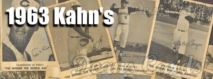 1963 Kahn's Baseball Cards
