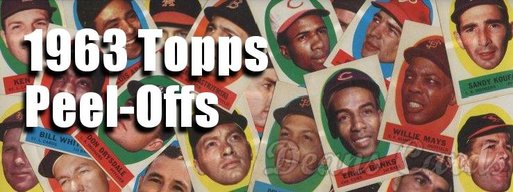 1963 Topps Peel-Offs
