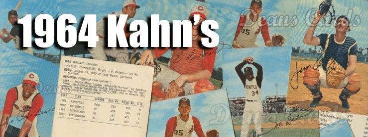 1964 Kahn's Baseball Cards