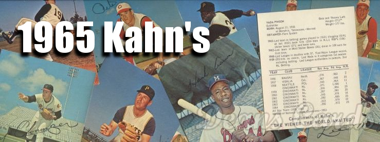 1965 Kahn's Baseball Cards
