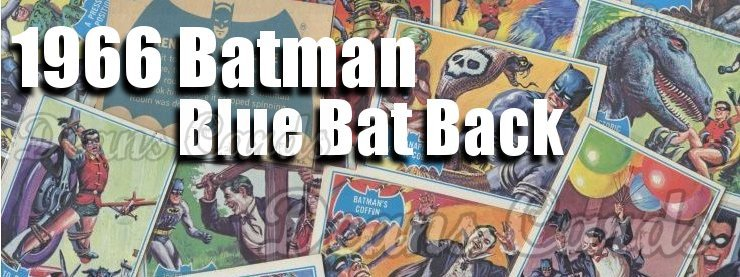 1966 Topps Batman Blue Bat Back