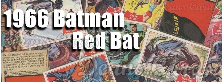 1966 Topps Batman Red Bat