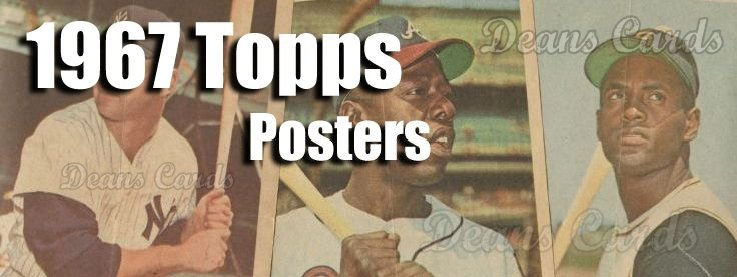 1967 Topps Pin-Up Posters