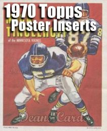 1970 Topps Football Poster Inserts