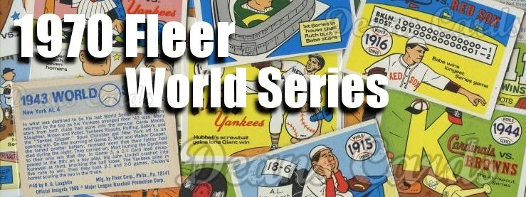 1970 Fleer World Series Baseball Cards