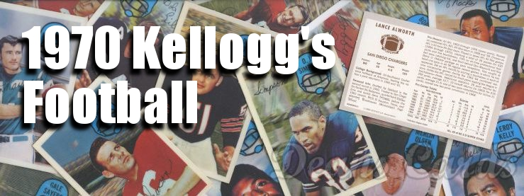 1970 Kelloggs Football Cards