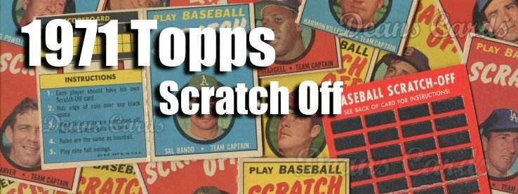 1971 Topps Scratch-Offs Baseball Cards