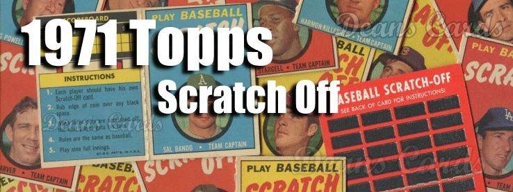 1971 Topps Scratch-offs