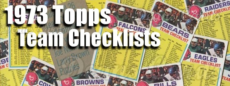 1973 Topps Football Team Checklists