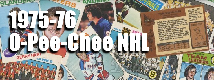 1975-76 O-Pee-Chee NHL Hockey Cards